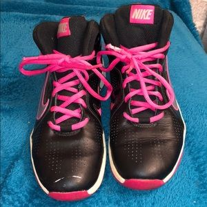 Black and pink Nikes